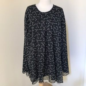 NWT! Suzanne Betro 4X green combo flowy dress.